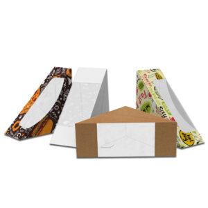 Упаковка для сэндвичей,бутербродов (цельноламинированная)